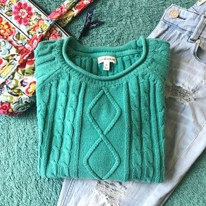 C&B cable sweater with pockets